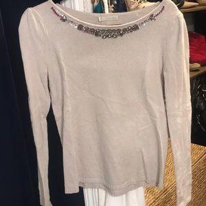 Nordstrom's Hinge jeweled sweater sz XS/S